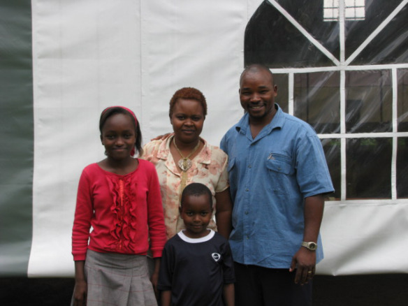 Pastor Joseph Mburia and his family.