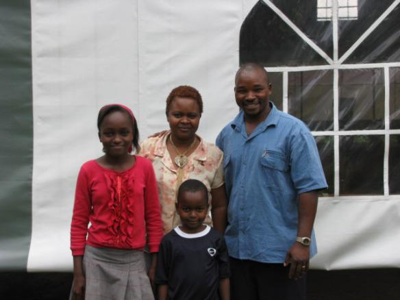 Pastor Joseph Mburia and his family.