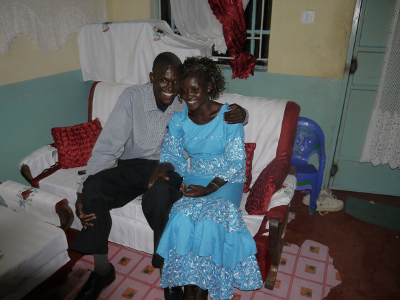 Pastor Zakok and his wife Lillian